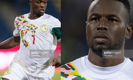 FRANCEVILLE, GABON - JANUARY 23: MOUSSA SOW of Senegal during the Group B match between Senegal and Algeria at Stade Franceville on January 23, 2017 in Franceville, Gabon. (Photo by Visionhaus/Corbis via Getty Images)